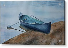 Acrylic Print featuring the painting Solitude by Patsy Sharpe