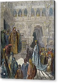 Solomon Receiving Sheba Acrylic Print by Granger