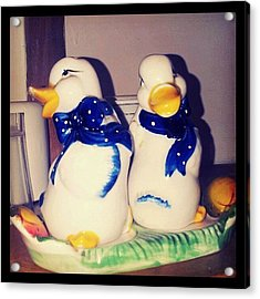 Some Very #old #salt And #pepper Acrylic Print