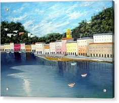 Acrylic Print featuring the painting Some Were On The Mediterranean by Larry Cirigliano