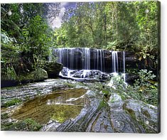 Somersby Falls Acrylic Print by Barry Culling