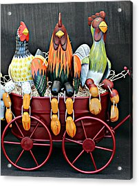 Acrylic Print featuring the photograph Something To Cluck About by Jo Sheehan
