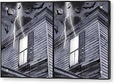 Something Wicked - Cross Your Eyes And Focus On The Middle Image Acrylic Print by Brian Wallace
