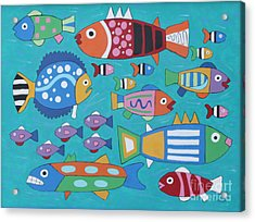 Something's Fishy Acrylic Print by Marilyn West