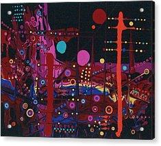 Sometimes I Even Dream In Neon Acrylic Print by Charlotte Nunn