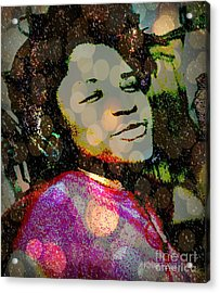 Sometimes When I'm Sad I Dance This Tune - The  Devil Lost The Battle Acrylic Print by Fania Simon