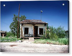 Acrylic Print featuring the photograph Somewhere On The Old Pecos Highway Number 3 by Lon Casler Bixby