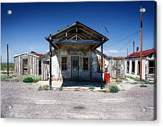 Acrylic Print featuring the photograph Somewhere On The Old Pecos Highway Number 4 by Lon Casler Bixby