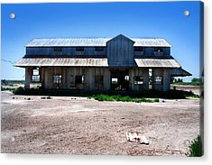 Acrylic Print featuring the photograph Somewhere On The Old Pecos Highway Number 6 by Lon Casler Bixby