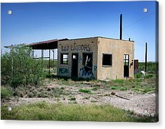 Acrylic Print featuring the photograph Somewhere On The Old Pecos Highway Number 7 by Lon Casler Bixby