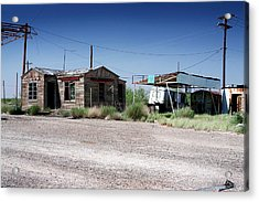 Acrylic Print featuring the photograph Somewhere On The Old Pecos Highway Number 8 by Lon Casler Bixby