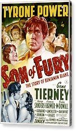 Son Of Fury, Tyrone Power, Gene Acrylic Print