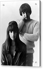 Sonny & Cher, Sonny Right, Cher Left Acrylic Print