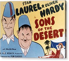 Sons Of The Desert, Stan Laurel, Oliver Acrylic Print by Everett