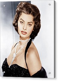 Sophia Loren, Ca. 1957 Acrylic Print