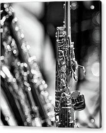 Soprano Saxophone Acrylic Print by © Rune S. Johnsson