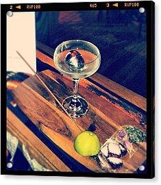 Souk Martini Absolut Tea Vodka, Lychee Acrylic Print