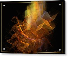 Acrylic Print featuring the digital art Soul Flower by Sipo Liimatainen
