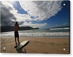 Soul Surfer Acrylic Print by Lennie Green