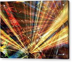 Acrylic Print featuring the painting Sound Of Light by Kathy Sheeran