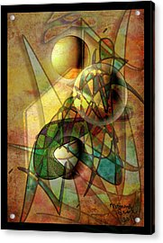 Sound Waves Acrylic Print by Monroe Snook