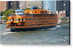 South Ferry Water Ride1 Acrylic Print by Terry Wallace