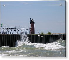 South Haven Lighthouse Acrylic Print by Matthew Winn