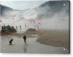 South Korean Soldiers Dressed As North Acrylic Print