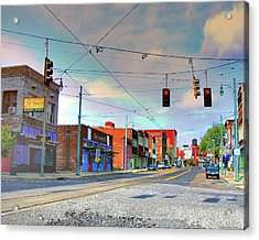 Acrylic Print featuring the photograph South Main Street Memphis by Lizi Beard-Ward
