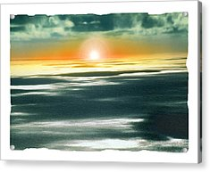 South Pacific Sunset Acrylic Print by Noah Brooks