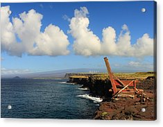 Acrylic Print featuring the photograph South Point Hawaii Boat Hoist by Scott Rackers