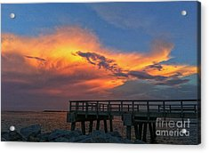 South Point Pier Acrylic Print
