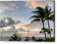 South Seas Sunset Acrylic Print by John  Greaves