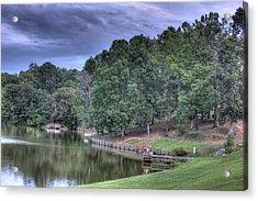 South Side Sunrise Lake Acrylic Print by Barry Jones