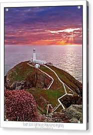 Acrylic Print featuring the photograph South Stack Lighthouse by Beverly Cash