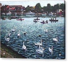 Southampton Riverside Park River Itchen Acrylic Print by Martin Davey