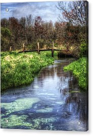 Southards Pond In Spring Acrylic Print by Vicki Jauron