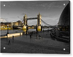 Southbank London  Acrylic Print by David Pyatt