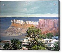 Southern Utah Butte Acrylic Print by Matthew Chatterley