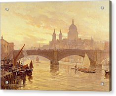 Southwark Bridge Acrylic Print by Herbert Menzies Marshall