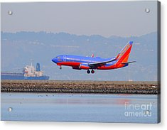 Southwest Airlines Jet Airplane At San Francisco International Airport Sfo . 7d12176 Acrylic Print by Wingsdomain Art and Photography