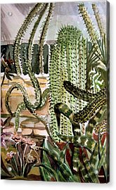 Southwest Garden Acrylic Print by Mindy Newman