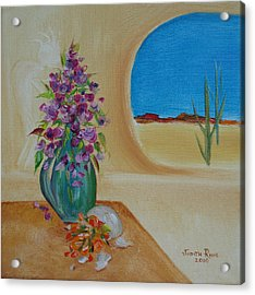 Acrylic Print featuring the painting Southwestern 3 by Judith Rhue