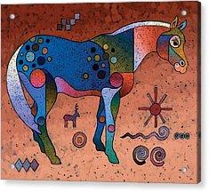 Southwestern Symbols Acrylic Print by Bob Coonts
