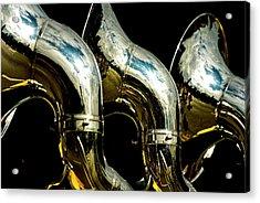 Souzaphones On Parade Acrylic Print by by Ken Ilio