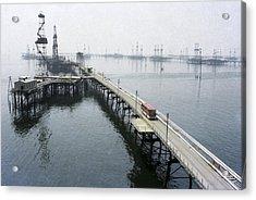 Soviet Caspian Sea Oil Fields, 1978 Acrylic Print by Ria Novosti