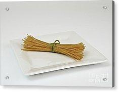 Soybean Spaghetti Acrylic Print by Photo Researchers