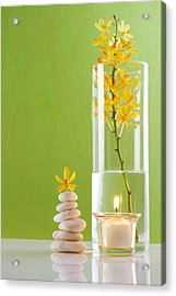 Spa Concepts With Green Background Acrylic Print by Atiketta Sangasaeng