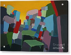 Space And Time Acrylic Print by Dan Lockaby