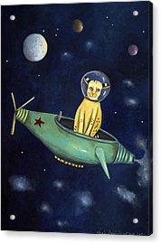 Space Bob Acrylic Print by Leah Saulnier The Painting Maniac